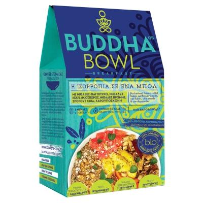 Buddha Bowl Breakfast με Νιφάδες Φαγόπυρο, Νιφάδες Κεχρί, Ηλιόσπορο, Νιφάδες Βρώμης, Σπόρους Chia, Χαρουπόσκονη