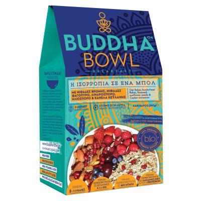 Buddha Bowl Breakfast με Νιφάδες Βρώμης, Νιφάδες Φαγόπυρο, Λιναρόσπορο, Ηλιόσπορο & Κανέλα Κεϋλάνης