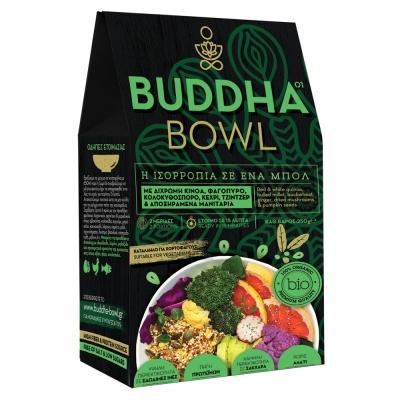 Buddha Bowl με Δίχρωμη Κινόα, Φαγόπυρο, Κολοκυθόσπορο, Κεχρί, Τζίντζερ & Αποξηραμένα Μανιτάρια
