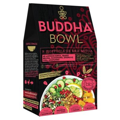 Buddha Bowl με Δίχρωμη Κινόα, Μαύρες Φακές Beluga, Ηλιόσπορο, Σπόρους Chia & Αμάρανθο