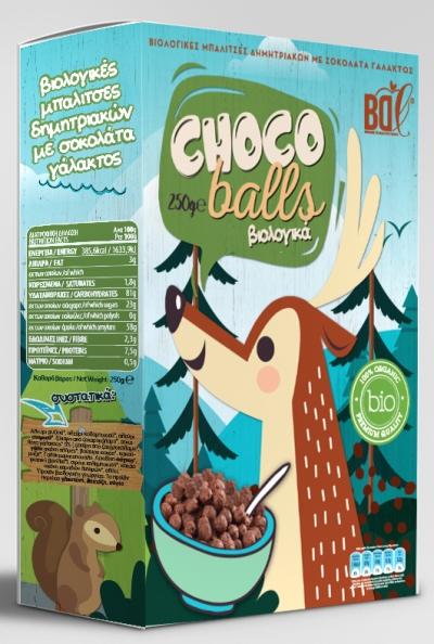 Βιολογικές Μπαλίτσες Δημητριακών με Σοκολάτα Γάλακτος