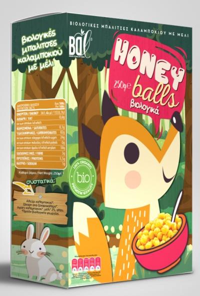 Βιολογικές Μπαλίτσες Καλαμποκιού με μέλι