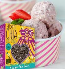 Vegan παγωτό φράουλα με Chia